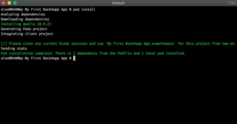 Using GraphQL Apollo iOS Client in a Swift Project