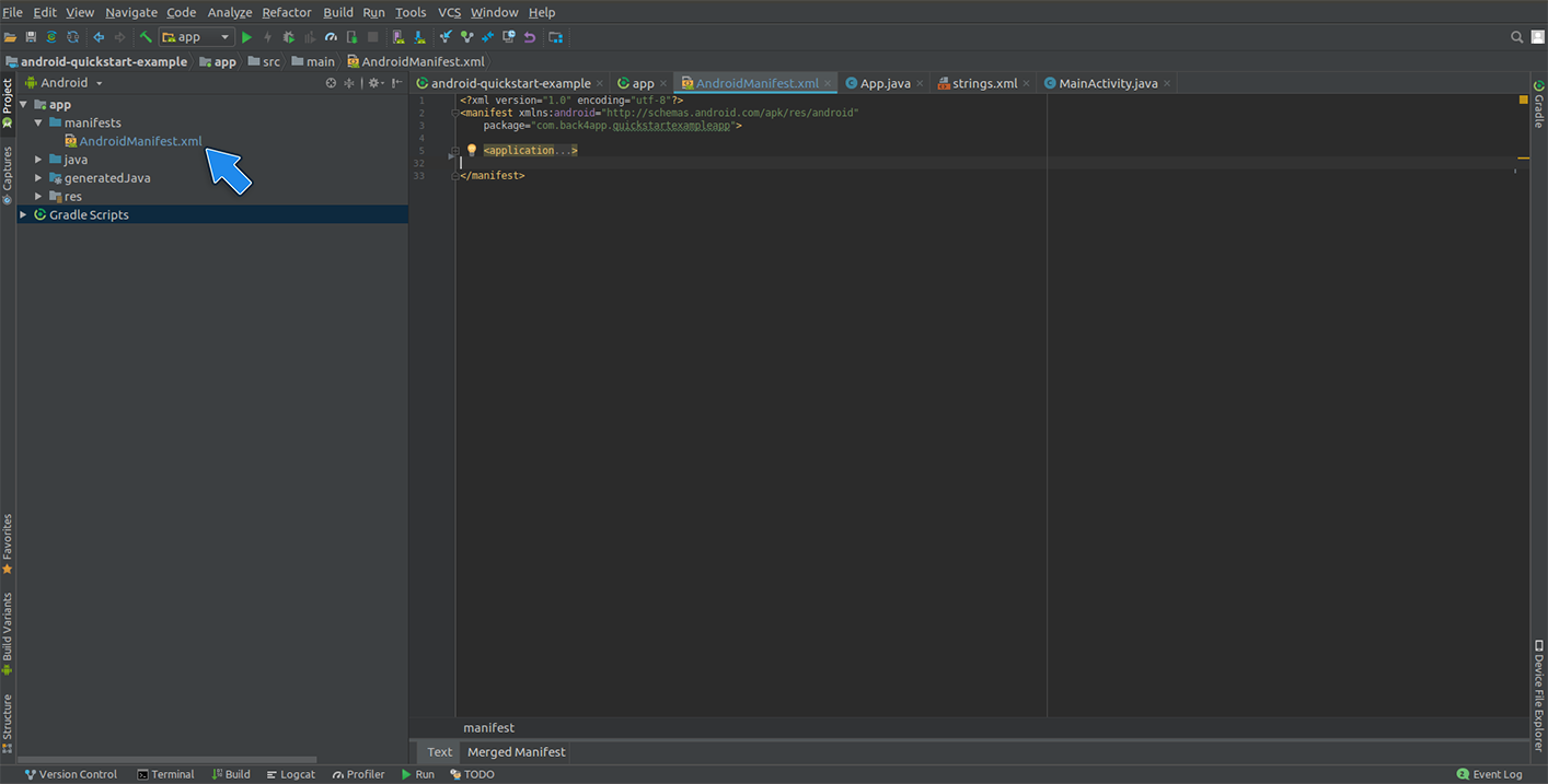 Install Parse SDK on your Android Studio Project | Back4app