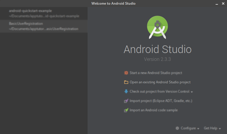 Download an Android project with source code and start using