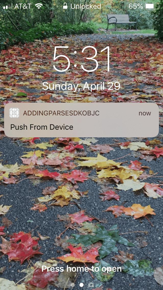 Push Notification Via Dasboard App