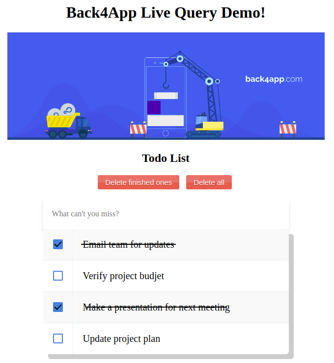 How to use Parse Server Live Query | Back4App
