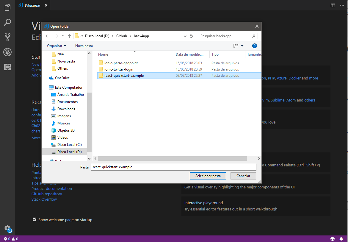 Visual Studio opening file