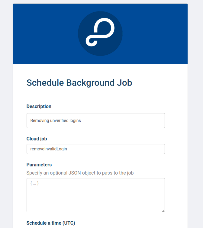 Schedule Background Job settings