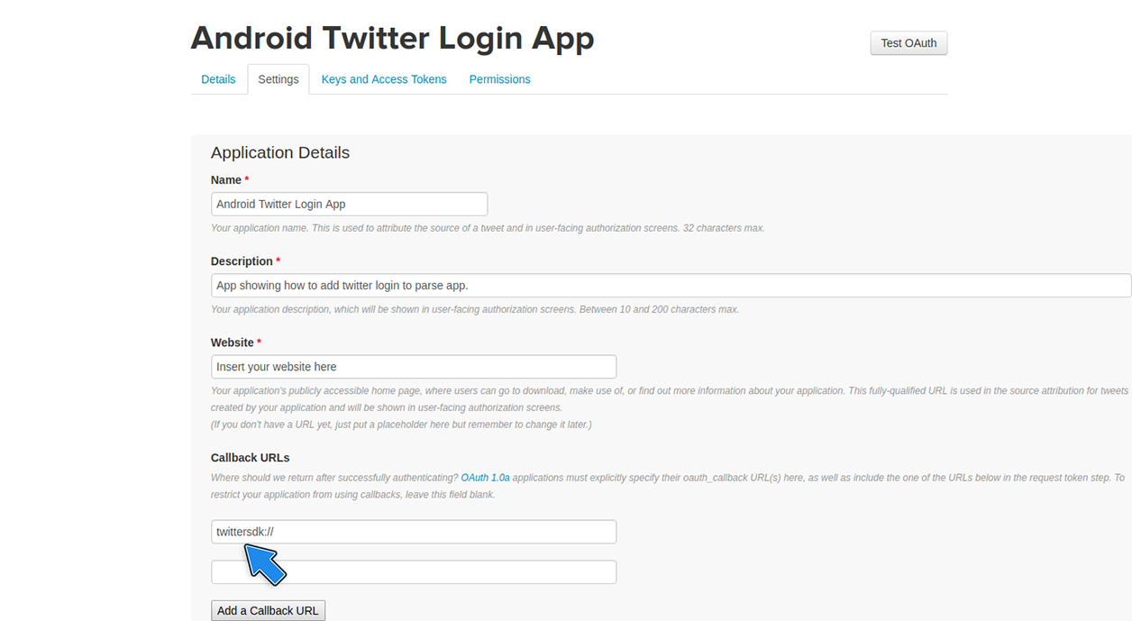 How to add twitter login to your Android App | Back4app Guides